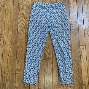 H&M Blue and White Stretchy Pants Size 4